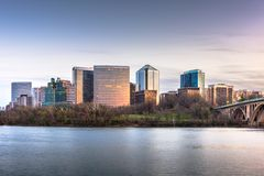 Rosslyn, Arlington, Virginia, USA skyline on the Potomac River stock photos