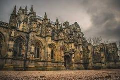 Rosslyn kaplica w Szkocja UK Średniowiecznej architekturze Rosslyn kaplicy powierzchowność fotografia royalty free