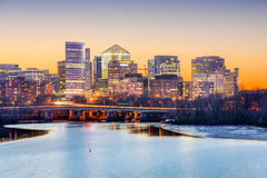 Rosslyn Skyline Royalty Free Stock Images