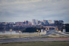 Rosslyn Virginia From The Lincoln Memorial In Washington DC Stock Photo