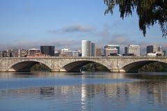 Rosslyn, Virginia und der Potomac Stockbild