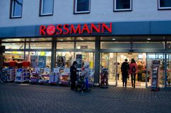 Soest, Germany - December 19, 2017: Rossmann store. Rossmann is Germany`s second-largest drug store with other 3,600 stores in. Rossmann store. Rossmann is stock photography