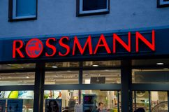 Soest, Germany - December 19, 2017: Rossmann store. Rossmann is Germany`s second-largest drug store with other 3,600 stores in. Rossmann store. Rossmann is royalty free stock image