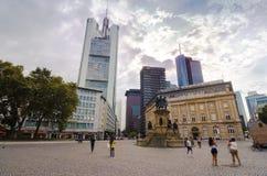 Rossmarkt Goetheplatz in Frankfurt Royalty Free Stock Photos