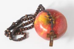 Rosso Apple del peccato di Eva della bibbia Fotografia Stock