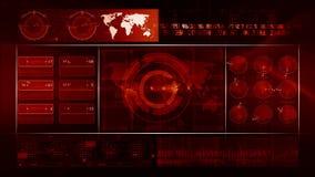 Rosso astratto del CICLO del fondo di tecnologia stock footage