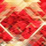 Rosso astratto del fondo del triangolo Immagini Stock