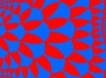 Rosso blu Fotografia Stock
