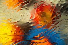Rosso, blu, arancia, progettazione astratta variopinta nera e gialla, struttura Bei ambiti di provenienza fotografie stock libere da diritti
