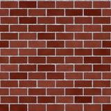 Rosso Clay Brick Wall Seamless Texture di Borgogna Immagini Stock