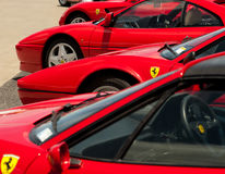 Rosso Corsa - lots of it! Stock Image