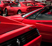 Rosso Corsa - lots of it! Royalty Free Stock Image