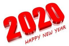 rosso 3D 2020 Fotografia Stock