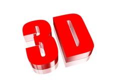 rosso 3D Fotografie Stock Libere da Diritti