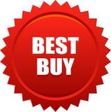 Rosso del bollo della guarnizione di Best Buy Immagine Stock