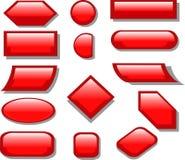 Rosso del bottone Fotografia Stock