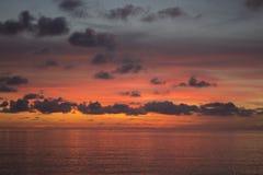 Rosso del cielo & del mare Fotografie Stock