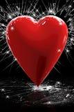 rosso del cuore 3D Immagini Stock