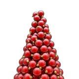 Rosso del picco degli ornamenti di Natale Fotografia Stock Libera da Diritti