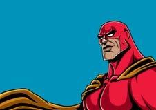 Rosso del ritratto del supereroe Fotografie Stock