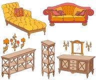 Rosso del sofà del doppio dell'insegna 180_150 della mobilia di Zala Fotografia Stock