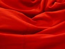 Rosso del tessuto Fotografia Stock Libera da Diritti