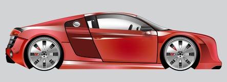 Rosso dell'automobile di modello Illustrazione di progettazione del letto per i ragazzi Un realistico Fotografia Stock Libera da Diritti