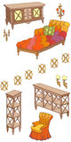 Rosso dell'insegna 120_240 della mobilia di Zala Fotografia Stock Libera da Diritti