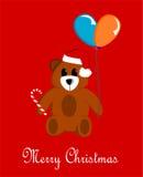 Rosso dell'orsacchiotto di Natale Illustrazione Vettoriale