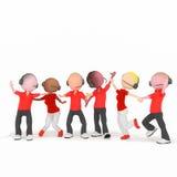 Rosso della call center di bisness dell'operatore Fotografia Stock Libera da Diritti