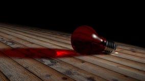 Rosso della lampadina Immagini Stock