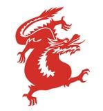 Rosso della porcellana del drago Fotografia Stock Libera da Diritti