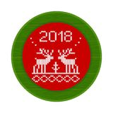 rosso della struttura tricottato 2018 cervi Fotografia Stock