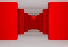 Rosso delle pareti Immagini Stock