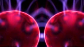 Rosso di arte del caleidoscopio della palla del plasma royalty illustrazione gratis