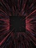Rosso di Digital e fondo astratto delle linee blu rappresentazione 3d Immagini Stock Libere da Diritti