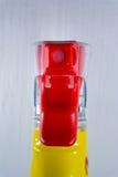 Rosso di Front Foam Cleaning Supply Detail del meccanismo della bottiglia dell'ugello spruzzatore fotografie stock