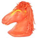 Rosso di giallo del plasticine del cavallo Fotografie Stock Libere da Diritti