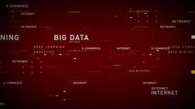 Rosso di Internet di parole chiavi illustrazione di stock