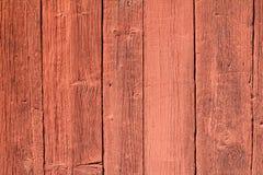 Rosso di legno della parete Fotografia Stock