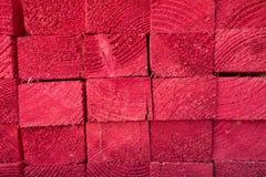 Rosso di legno di struttura Fotografia Stock Libera da Diritti