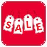 Rosso di offerta di vendita Immagini Stock