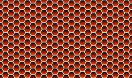 Rosso di struttura del fondo del favo Fotografia Stock Libera da Diritti