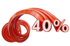 Rosso di vendita su fondo bianco illustrazione 3D royalty illustrazione gratis