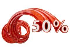 Rosso di vendita su fondo bianco illustrazione 3D illustrazione vettoriale