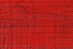 Rosso dipinto di legno Fotografia Stock