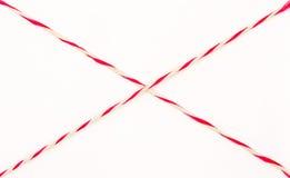 Rosso e bianco della corda Immagini Stock
