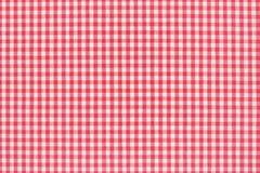 Rosso e bianco della tovaglia Fotografie Stock