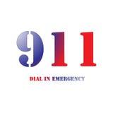 911 rosso e blu Fotografie Stock Libere da Diritti