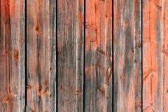 Rosso e fondo del bordo di Grey Rustic Weathered Barn Wood Fotografia Stock Libera da Diritti